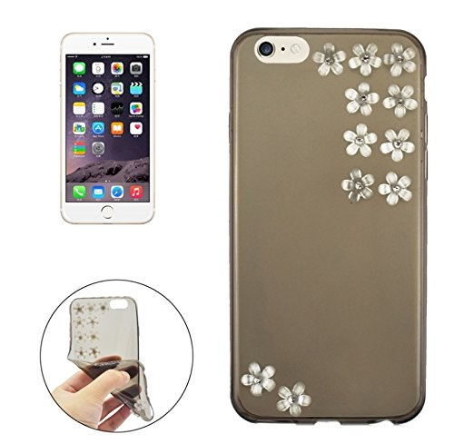 Phone case & Hülle Für iPhone 6 / 6S, Blumenmuster Diamant verkratzt Ultradünn TPU Schutzhülle ( Color : Blue ) Grey