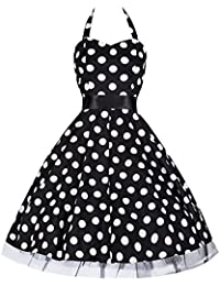 Pretty Kitty Fashion - Robe - Noir et Pois Blanc