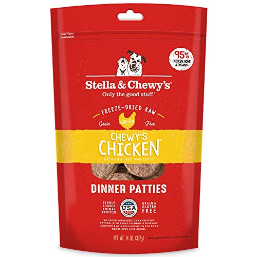 Chicken , 15-Ounce : Stella & Chewy's Freeze-Dried Raw Chewy's Chicken Dinner Patties Dog Food