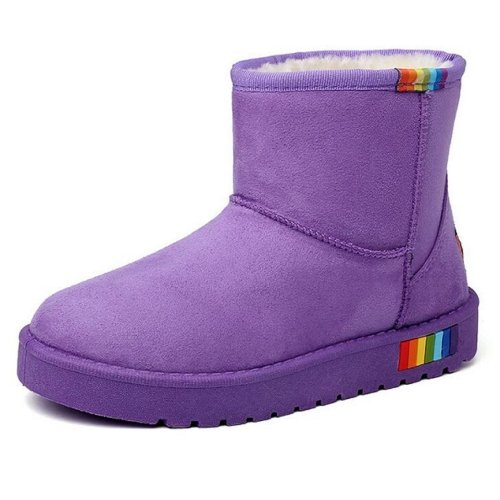 Wsx & Plm Femmes-bottines-casual-confortable Suede-noir / Bleu / Marron / Violet / Rouge / Gris / Beige Gris