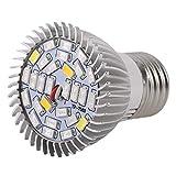 Qewmsg Pianta del LED coltiva Lo Spettro Completo Chiaro 8 / 28W E27 impianto Crescere Lampada idroponica per Fiore Serra Indoor Grow Box