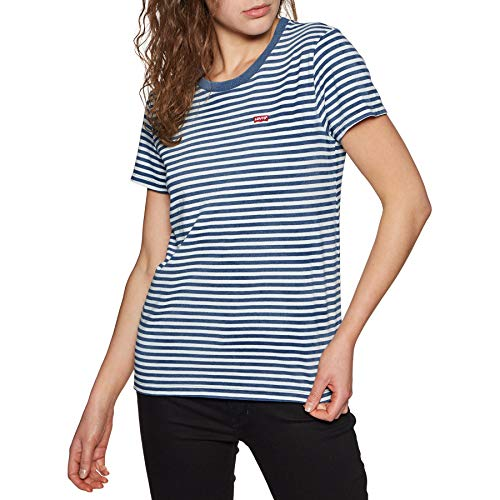 Levi's Damen Perfect Tee T-Shirt, Mehrfarbig (Raita Indigo 0033), Medium -