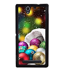 Christmas Decorative Balls Back Case Cover for SONY XPERIA C4