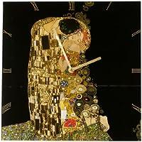 Tischuhr Standuhr Uhr Gustav Klimt der Kuss Durchmesser ca 9,5 cm