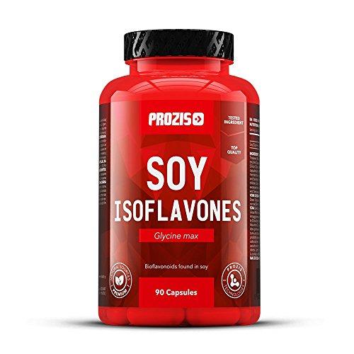 Prozis Soja-Isoflavone 90 Kapseln - Natürliche Quelle von Bioflavonoiden - Für Diäten geeignet - 30 Portionen
