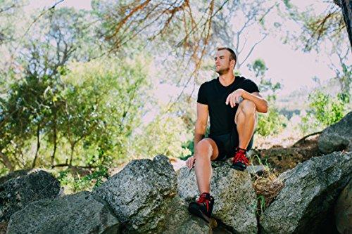 GUGGEN Mountain Herren Wanderschuhe Bergschuhe Outdoorschuhe Walkingschuhe Outdoor M010 Schwarz-Rot