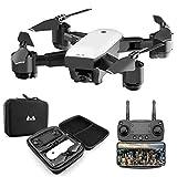 OSYARD Helicoptere Telecommande avec Camera HD 1080P 5MP 120° Grand Angle Drone Selfie Pliable 2.4GHz GPS Télécommandé Altitude Hold