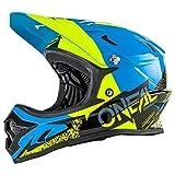 O'Neal Backflip RL2 Helm Burnout Mountain Bike DH FR MTB BMX Downhill Fahrrad Magnetverschluss, 0500-1, Farbe Blau Gelb, Größe L