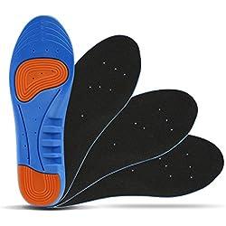 LIHAO 2 Pares de Plantillas Zapatos Unisex Plantillas Gel Deportivas