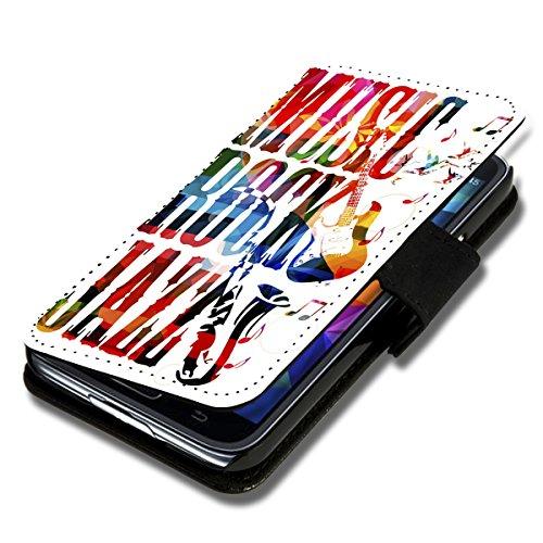 Book Style Flip Handy Tasche Case Schutz Hülle Schale Motiv Etui für Apple iPhone 6 - 4,7 Zoll - A36 Design2 Design 7