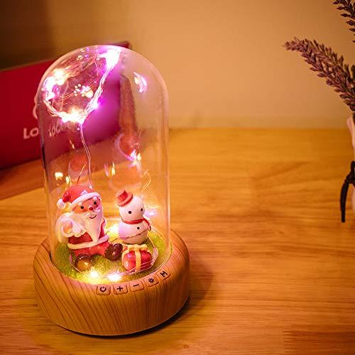 Tanabata Saint-Valentin Veilleuse À Souhait Bouteille De Banderole Bluetooth Lampe De Table Audio Led Fleur Éternelle Veilleuse Lanterne Saint-Valentin Veilleuse, Noël, 0.3Noël Halloween Nouvelle Année