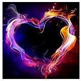 BaZhaHei de Pintura, Corazón de 5D Bordado Pinturas Rhinestone Pegado DIY Pintura Diamante punto de Cruz del 5D Diamond Painting Full Diamond Drill Heart 30 * 30cm Conveniente para la decoración