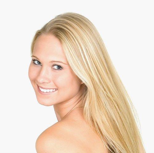 50,8 cm Remy (Remi) Extensions de cheveux humains Gingembre Blond Mèches (couleur # 27B/613) Lot de 9 pièces (Set) [Set Poids : drinkstuff/125grams]