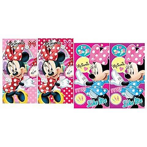 Disney Minnie Mouse Set di 4asciugamano bambini asciugamano 35x 65cm