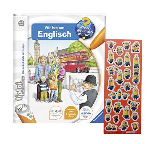 Ravensburger tiptoi ® Buch Wieso? Weshalb? Warum? - Wir lernen Englisch + Minions Sticker