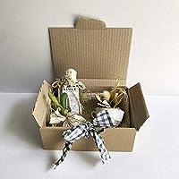 CESTA SIEMPRE. Regalos personalizados, únicos y originales. Con Aroma, taza, bouquet de flores secas silvestres y saquito aromático para el armario.