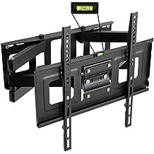 """Tectake Supporto universale staffa parete muro TV LCD TFT LED inclinabile e girevole Vesa 50X50 fino 400X400 portata massima: 100kg 32 - 55"""" distanza dalla parete 7cm"""