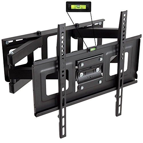 TecTake TV Wandhalterung für Flachbildschirme Neigbar Schwenkbar max VESA 400x400 bis 100kg LED 81cm (32 Zoll) - 140cm (55 Zoll)