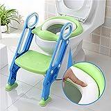 Sinbide Toilettentensitz kinder Toiletten-Trainingssitz  WC-Trainer Töpfchen-Sitz mit Doppelseitige Armlehnen für Kinder von 1-7 Jahren (Grün)