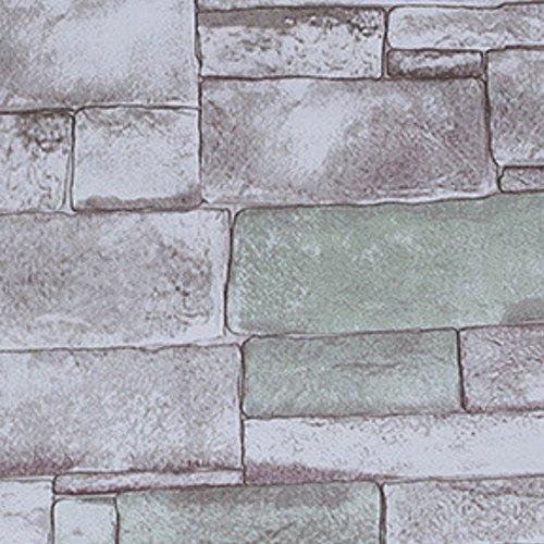 YJZ 3D Ziegel Tapete Retro Muster Vinyl Selbstklebefolie Harte Verpackung Schutz Wasserdicht Anti-Öl Für Home Coffee Kleidung Shop Küche,Green