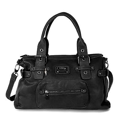 moderne handtasche jennifer jones damen tasche tragetasche shoppertasche bag schwarz amazon. Black Bedroom Furniture Sets. Home Design Ideas