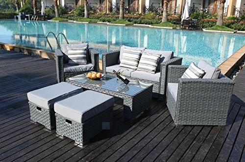 Yakoe 50124 2017 Monaco 6 Seater Rattan Garden Furniture ...