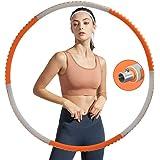 Jubliss Hula Hoop Reifen für Erwachsene, Fitness Hula Hoop zur Gewichtsreduktion und Massage, 6 Segmente Abnehmbarer…