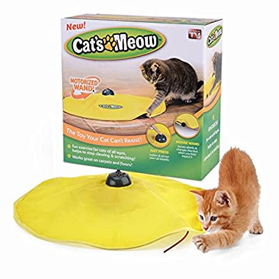 Cat's Meow Undercover Mouse Interactive Toy for Indoor Cats Kitten Accessories, NOTICE: ONLY SOLD BY [wind of the peak]  by Mixse
