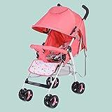 LZTET Kinderwagen Buggy City Jogger Sportwagen Babywagen Sitzbuggy Liegebuggy 5-Punkt Sicherheitsgurt mit Liegefunktion Zusammenklappbar Baby 0-3 Jahre Alt,Pink