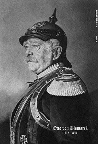 Otto von Bismarck 1815-1898 Schwarz weiß Portrait schild aus blech, tin sign, metallsign
