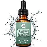 Serum au Rétinol Bionura avec 2,5% de Rétinol + 20% de Vitamine C + 10% de Acide Hyaluronique. Sérum visage anti-âge et anti-rides raffermissant pour le jour et la nuit. Pour femmes et hommes.