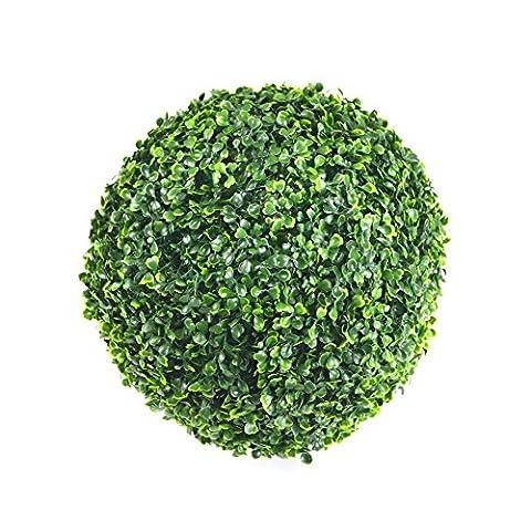 Weimanshop Décoration pour Maison Mariage Plantes Fleurs Artificielles Intérieur Extérieur Boule de Buis 36 CM