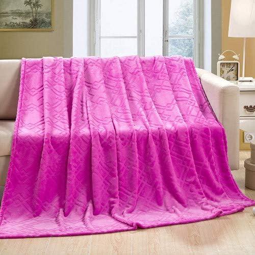 FOREVER-YOU FOREVER-YOU FOREVER-YOU Couverture en Flanelle de Couleur Solide d'épaisseur des couvertures d'hiver couvertures Linge,1,5  2M,F 4b5881