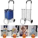 Aluminum Folding Portable Grocery Shopping Basket Trolley Cart