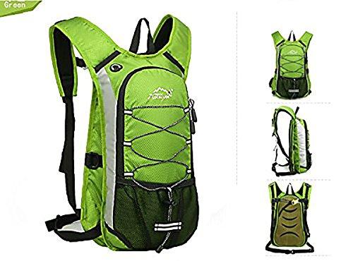 Bequem Wasserdicht Rucksack für Reisen Wandern Camping Radfahren Alle Outdoor-Sport Grün
