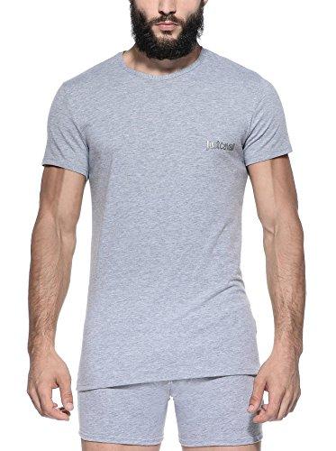 Just Cavalli by Roberto Cavalli Herren Shirt T-Shirt , Farbe: Grau Grau