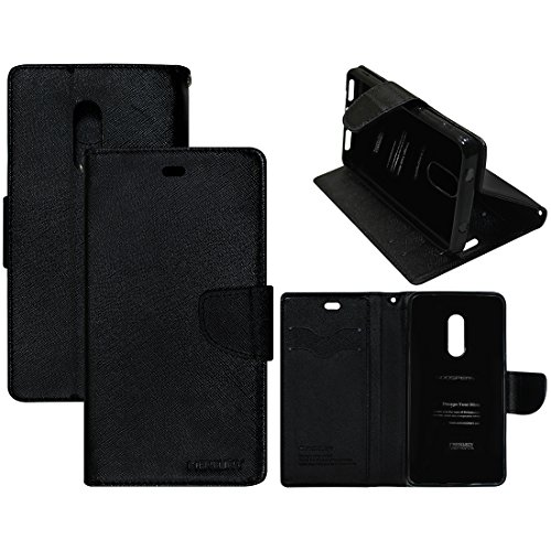 Casotec Goospery Fancy Diary Wallet Flip Case Cover for Xiaomi Redmi Note 4 - Black  available at amazon for Rs.475