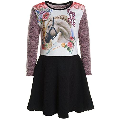 Frankreich Kinder Mädchen Kostüm - BEZLIT Mädchen Kinder Spitze Winter Kleid Peticoat Fest Kleider Lang Arm Kostüm 20921 Rosa Größe 140