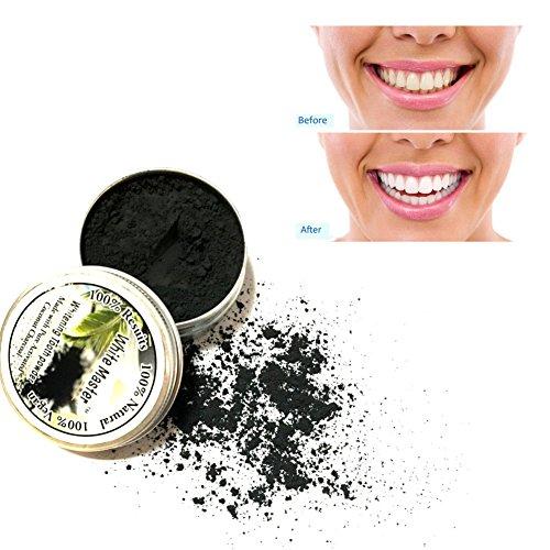 KISSION Zahnpulver,Natur Bambus Aktivkohle Zahn Pulver Reinigung Zähne Plaque Zahnstein Entfernung Kaffee Flecken 8g (Plaque-entfernung)