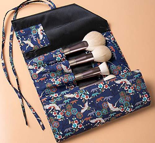 Kit de pinceaux à Maquillage Poignée en Bois Synthétique Base Kabuki Synthétique Mélange Blush Correcteur Yeux Visage Poudre Liquide Crème Poudre Cosmétiques Brosse À Lèvres Outil Brosses Kit