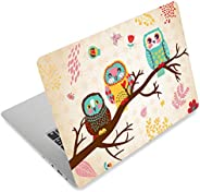 Three Owls Fashion Netbook Laptop Skin Sticker Reusable Protector Cover Case for 11.6 12.1 13 13.3 14 15 15.4