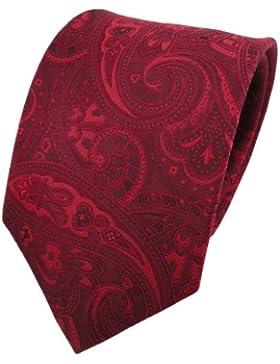 TigerTie diseñador corbata de seda - rojo burdeos rojo-rubí Paisley