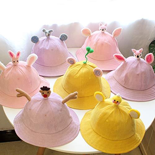Baby Hut weiche Schwester kleine gelbe Hut frisch Baby Hut Ohren Eltern-Kind-Hut diy Cord Kinder, Unterstützung der Erzeugung großer Menge an Verhandlungen, neu zu plus Cashmere S Kinder 2-7 (53cm)