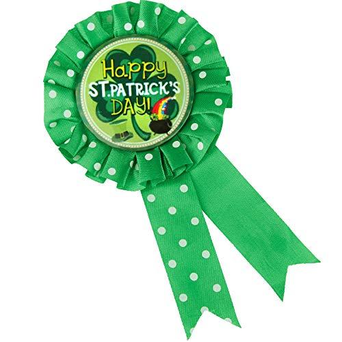 Irland Broschen Kostüm - dressforfun 302563 - St. Patrick's Day Brosche mit Schriftzug, Schriftzug und typische Symbole