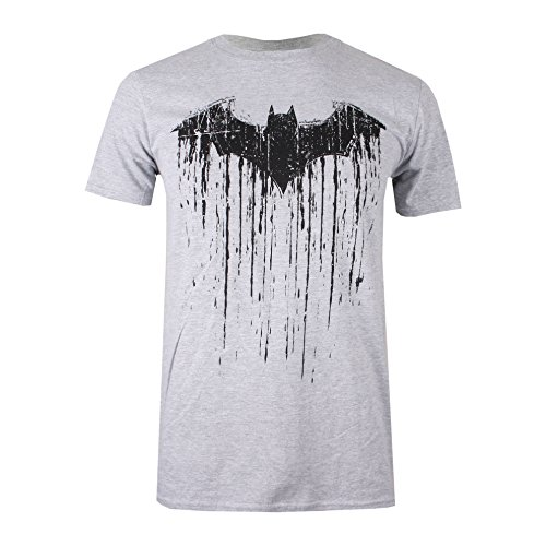 DC Comics Herren T-Shirt Batman Paint, Grau (Sports Grey SPO), M
