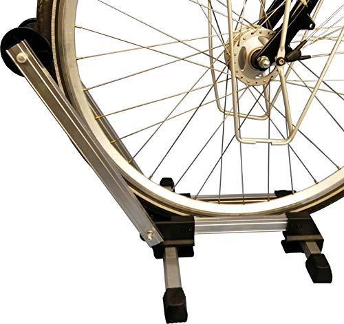 WANDERVOGEL Fahrrad Ständer Ausstellungsständer Hinterradständer Fahrradhalter Faltbar aus Aluminium(Weiß)