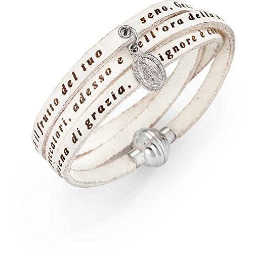 bracciale donna gioielli Amen Ave Maria Italiano misura 54 casual cod. AC-AMIT07-M-54