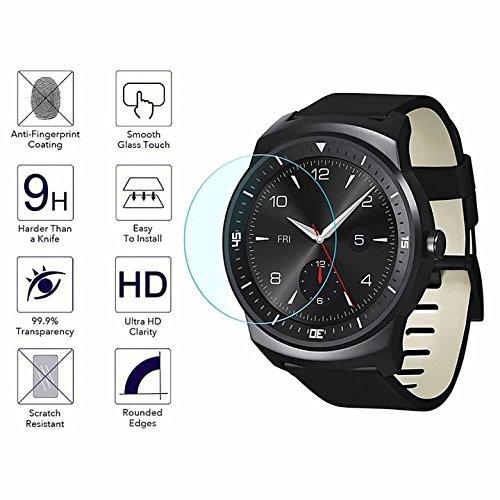 YANSHG® Für LG G Watch R Watch gehärteter Glasschutz, Anti-kratzen Ultra Clear 9 Uhr gehärtetem Glas Protektor (Lg R Watch G W110)