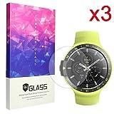 Ceston 9H Protection Ecran En Verre Trempé Pour Smartwatch Ticwatch E / Ticwatch S (3 Pack)
