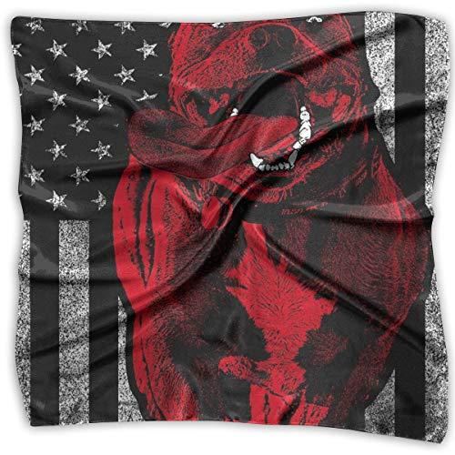 Sunny R American Bully Dog Flag Mujeres Pañuelo Pañuelos de Moda Elegante Mantón Bolso Accesorios 23.6 Pulgadas